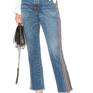 Hudson Riley Luxe Crop with Raw Hem Jeans